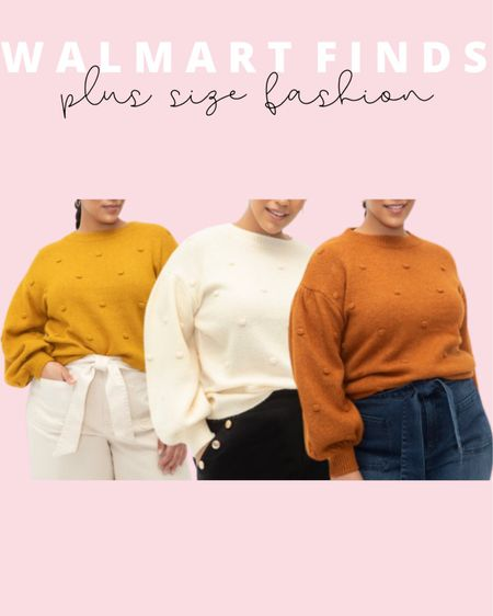 These new plus size sweaters are Walmart finds under $30! These will be perfect to go with any plus size fall outfit! Eloquii Elements plus size fall collection.   #LTKstyletip #LTKunder50 #LTKcurves