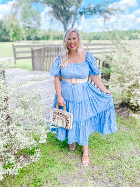 Dresses you can style multiple ways are my favorite 🤩.   Wearing a large. Linking similar purses!     #LTKcurves #LTKstyletip #LTKbump