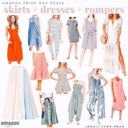 Skirts + dresses + rompers on sale for Prime Day! . . . . .  . . Summer dress // dresses // romper// rompers // jumpsuit // jumpsuits // skirt //skirts // flowy skirt // Amazon // prime day // Amazon prime // Amazon deals // Amazon fashion // Amazon clothes // Amazon dress // wedding guest dresses // flowy dress // floral dress // floral dresses // floral // striped jumper // striped romper // white dress // ruffle dress // ruffle top // one sleeve dress // maxi dress // maxi // midi dress // midi  #LTKstyletip #LTKunder50 #LTKsalealert