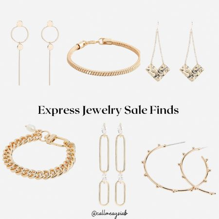 Express has some very cute jewelry that you can get during this sale! Love these earrings and bracelets!   #LTKsalealert #LTKstyletip #LTKunder50