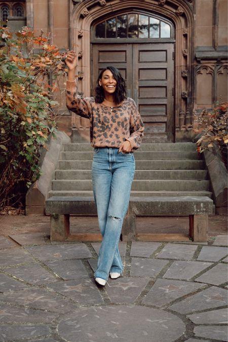 Leopard sweater and jeans http://liketk.it/33SYD #liketkit @liketoknow.it #LTKunder50 #LTKstyletip #LTKsalealert