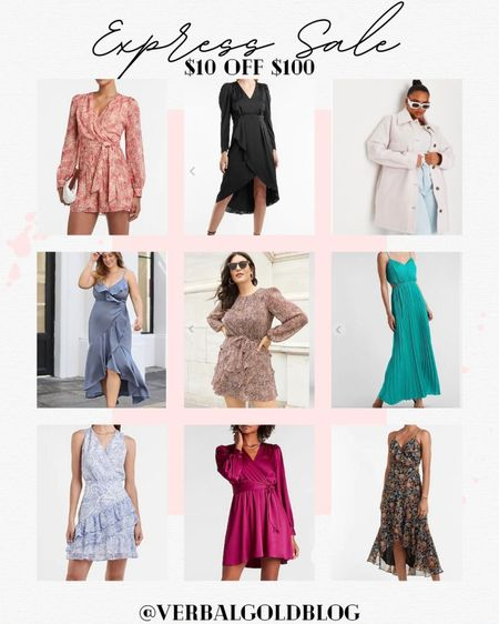 express ltk sale - express sale - express dresses - fall wedding guest dresses - curvy wedding guest dress - curvy fashion - curvy dresses - cocktail dress - formal dresses - date night outfits - fall family photos - fall fashion - fall outfits women - fall dresses - dress for wedding guest    #LTKwedding #LTKSale #LTKcurves