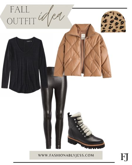 Fall outfit, casual date night outfit, leggings, Spanx, boots, winter outfit   #LTKshoecrush #LTKunder50 #LTKunder100