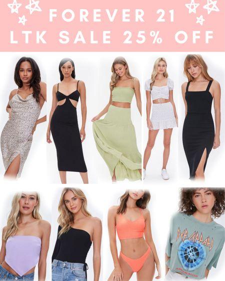 Forever 21 Sale 😍 25% off!!! Use code: LTKxF21 . . .  http://liketk.it/3h6LT #liketkit @liketoknow.it #LTKDay #LTKsalealert #LTKunder50 LTK day sale, summer outfits, midi dress, bodycon dress, scarf shirt, graphic tee, dress, black dress, matching set