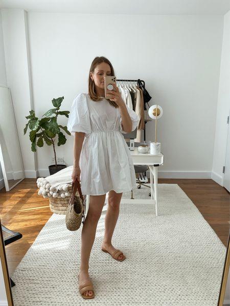 Madewell poplin white dress - wearing a size small!  #LTKSeasonal