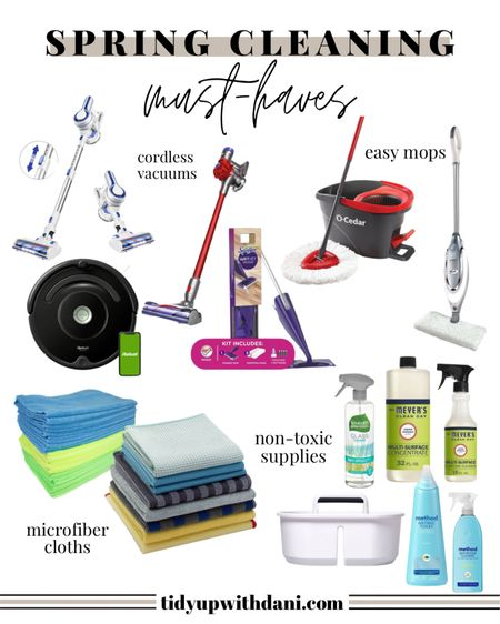 Spring Cleaning Supplies. Must-haves for Spring cleaning 2021. Best vacuums, mops, non-toxic cleaning products, natural cleaning products. #springcleaning #cleaningsupplies #springcleaningproducts #naturalcleaningproducts #springcleaningproducts #deepcleaning   #LTKhome #LTKSpringSale #LTKSeasonal