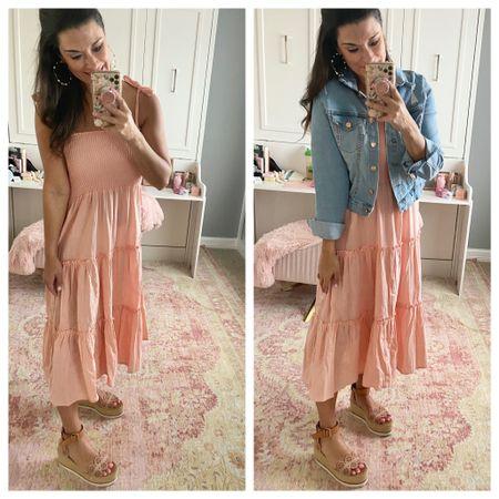 How to wear a peach pink dress http://liketk.it/39Xxl #liketkit @liketoknow.it