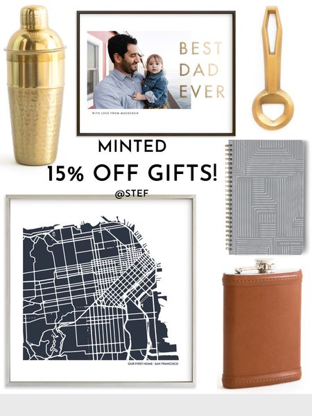 FATHERS DAY GIFT  MINTED Get15%off on all gifts. Promo codeDAD Ends 6/7  Drink shaker city print customized gifts custom gift bottle opener best dad happy Father's Day leather flask journal notebook puzzle puzzles pillow chair seat shave bag toiletrie bag tote apron wrapping paper   #LTKsalealert #LTKfamily #LTKunder100  #LTKsalealert #LTKmens #LTKSeasonal