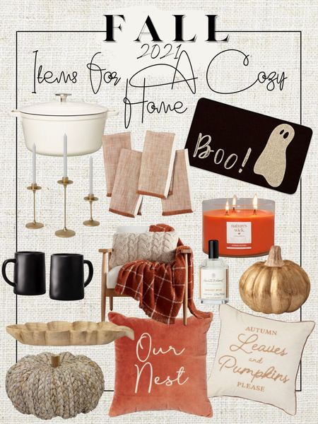 Cozy up your Fall Home Decor with some of these favorites from Target & Amazon! After all pumpkin spice is everything nice right!?   #LTKSeasonal #LTKHoliday #LTKhome