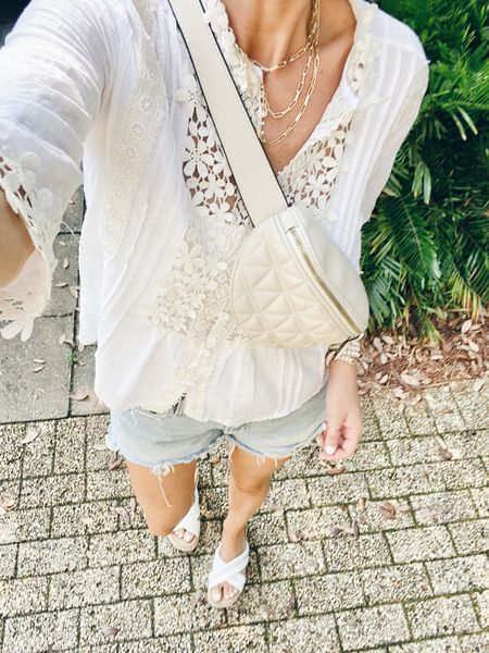 Wore this to the farmer's market and came home drenched. One of my fav amazon tops! Wore it over my fav shelf bra cami.  Wearing small in both tops.  Sandals are true to size.    #LTKshoecrush #LTKunder50 #LTKsalealert