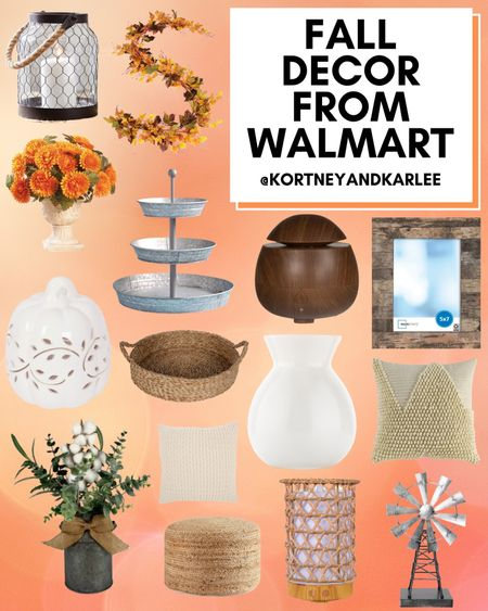 Fall Decor from Walmart!  Walmart home decor | walmart decor | walmart home finds | walmart home favorites | Walmart home decor favorites | new Walmart home decor | Walmart fall home decor | fall home decor | fall home decor from Walmart | Kortney and Karlee | #Kortneyandkarlee @liketoknow.it #liketkit  #LTKunder50 #LTKunder100 #LTKsalealert #LTKstyletip #LTKSeasonal #LTKhome