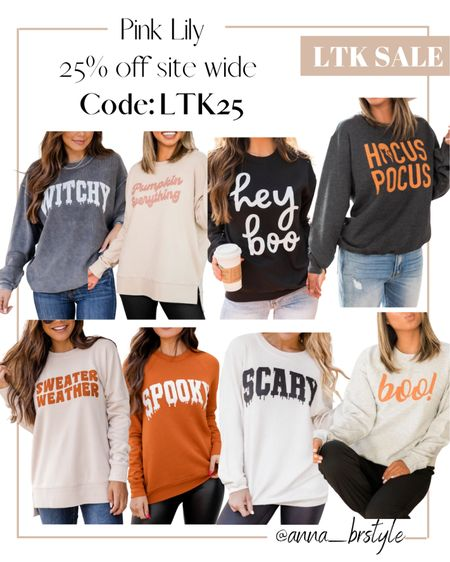 Halloween sweatshirts on sale #anna_brstyle  #LTKSale #LTKSeasonal