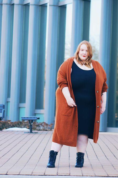 Who says you can't wear a tank dress in the winter?   #LTKSeasonal #LTKcurves #LTKstyletip