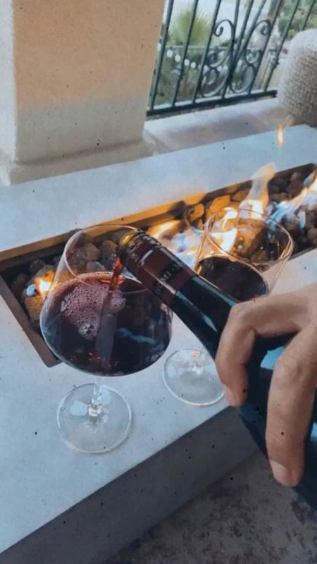 Outdoor balcony, summer nights, wine glasses, balcony decor, StylinByAylinHome   #LTKSeasonal #LTKhome #LTKunder100