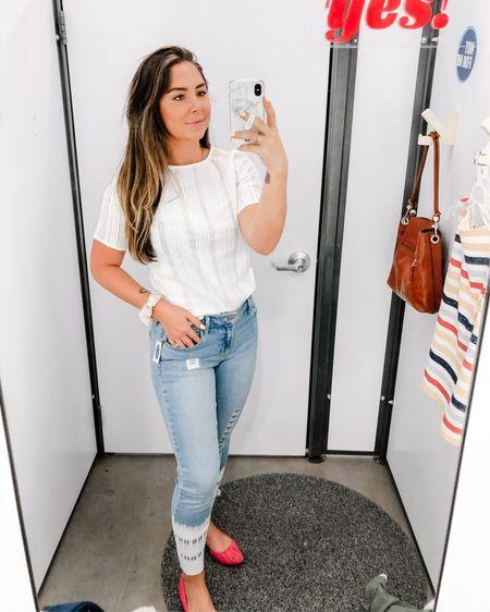 These jeans are SO FUN!! Wearing a size 8! http://liketk.it/2PrMR #liketkit @liketoknow.it #LTKcurves #LTKsalealert #LTKspring