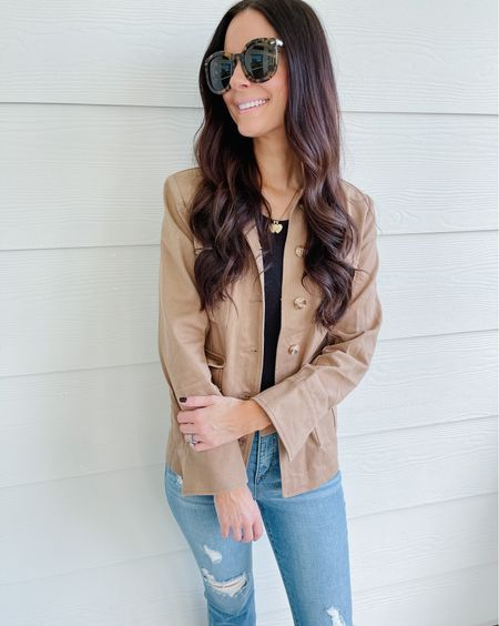 Loving this utility jacket for fall! Wearing size XS!