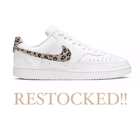 Leopard Nike sneakers Run a little big, I went down 1/2 size   #nike #shoes #laurabeverlin   #LTKunder50 #LTKsalealert #LTKshoecrush