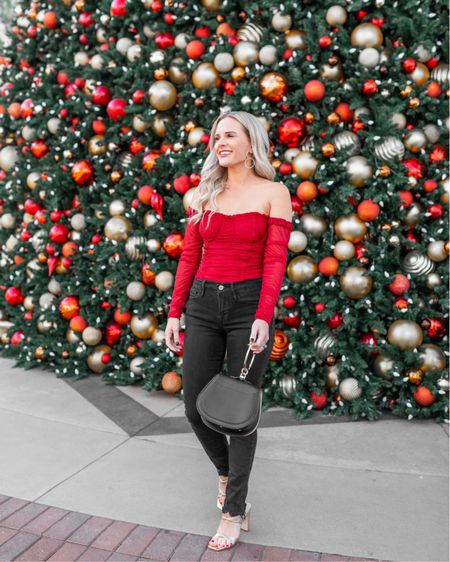 http://liketk.it/30OyO A festive holiday and Christmas party look now on dressmeblonde.com it's officially beginning to be the busy time when everyday is another Christmas/holiday event and I LOVE IT! bring on all the fun, and time spent with loved ones, and of course cute outfits 🥰🥰 love this red sparkly bodysuit http://liketk.it/2HT76 #liketkit @liketoknow.it #LTKunder50 #LTKunder100 #LTKsalealert #LTKitbag #LTKstyletip #LTKshoecrush