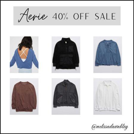 Aerie sweatshirt sale 40% off   #LTKsalealert #LTKunder50 #LTKGiftGuide