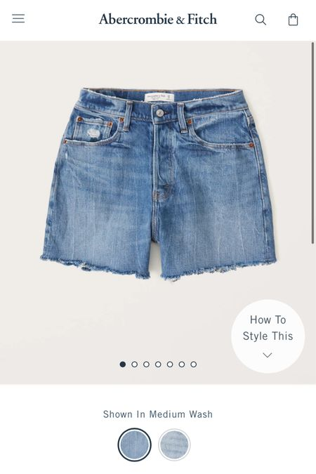 """Just ordered the new """"dad shorts"""" from Abercrombie in medium wash & light wash. I cannot wait to get them in! These do run a little big! Ordered a size down.. size 26 for me!"""