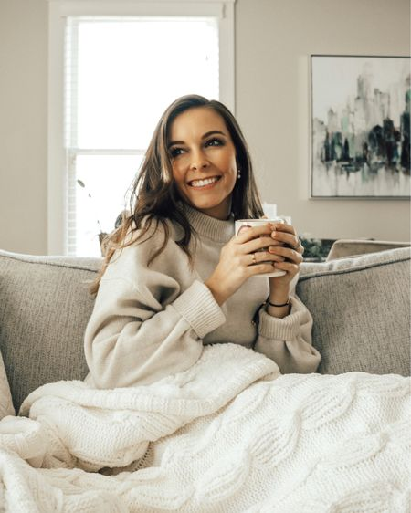 There is something about getting in a big sweater and cozy blanket with a mug of hot chocolate that you just can't beat. Give me allllllll that and a Christmas movie and I'm happy as a clam. Are those my plans for the weekend? Absolutely. Anyone else?!  • •  http://liketk.it/331WF #liketkit @liketoknow.it