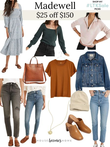 LTK Early Gifting Sale! $25 off $150 at Madewell!  Jeans, jacket, casual, comfy, fall outfits, teacher outfits, ootd, mules, handbags, dresses   #LTKSale #LTKGiftGuide #LTKstyletip