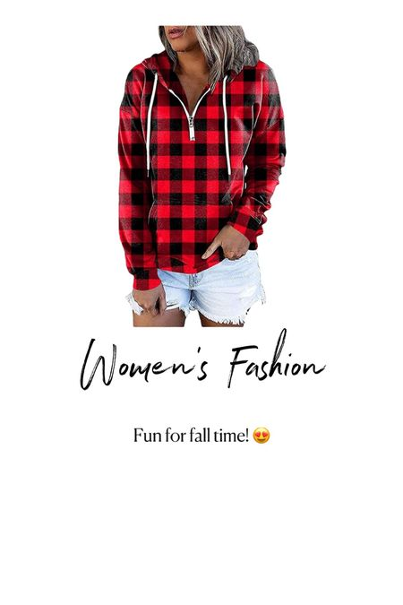 Amazon Fashion. Womens buffalo check pull over. Cute for fall time   #LTKSeasonal #LTKunder50 #LTKstyletip