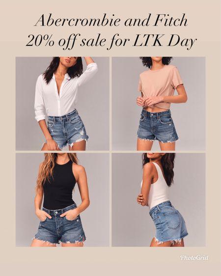 Abercrombie and Fitch denim now 20% off    #LTKunder100 #LTKsalealert #ltkday   http://liketk.it/3htMf #liketkit @liketoknow.it   Abercrombie and Fitch  Spring style  Summer style  Vacation style  Jean shorts  Mom shorts