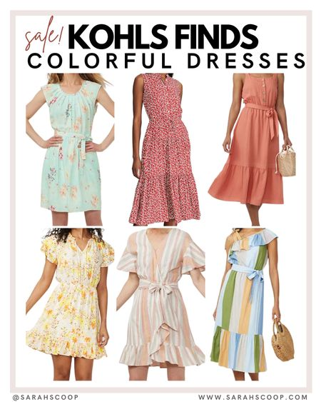 Check out these cute dresses!  kohl's | dress | dresses | trends | trending | cute | floral print | floral | affordable | low price | pink | colorful | blue | white | patterned   @sarahscoop www.sarahscoop.com    #LTKunder50 #LTKunder100