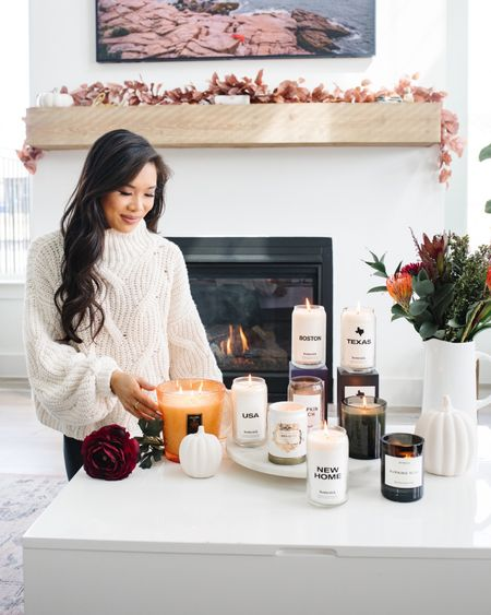 Fall is in the air and I am loving all of these candles! Linking my favorite Diptyque candle along with Voluspa, Homesick, Nest and more! Pumpkin spice is my go to scent this season. Also linking a similar sweater to the one I have on.   #LTKSeasonal #LTKunder100 #LTKstyletip