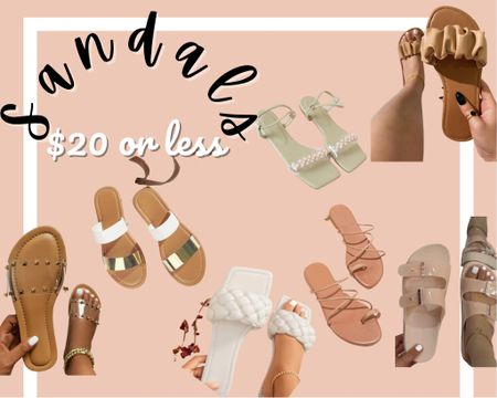Sandals $20 or less http://liketk.it/3f7H8 #liketkit @liketoknow.it #LTKshoecrush #LTKstyletip #LTKunder50