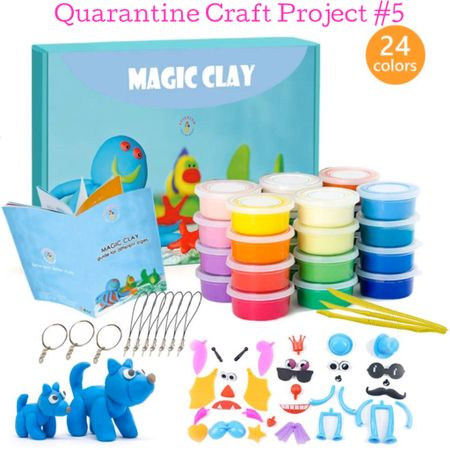 Our Quarantine Craft Project #5! • We've been homeschooling Lily +  introducing a new baking or craft project every 2 days to keep this time fun, fresh & educational. I'm going to share every one with you! Today we're playing with this marshmallow-like modeling clay that air dries. We love that it comes in 24 colors + a step-by-step instruction book. She's currently making a unicorn keychain! 🦄 You can instantly shop this kit by following me on the @liketoknow.it shopping app under 'TheClassyWoman' http://liketk.it/2MfdB #liketkit #StayHomeWithLTK #LTKfamily #LTKkids #quarantine #homeschooling #socialdistancing #DIY #crafting