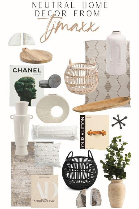 you can't go wrong with neutral home decor! @tjmaxx always has the best neutral decor finds 🙌🏼 #neutrahomedecor #homedecor #neutraldecor  #LTKhome #LTKunder50 #LTKstyletip