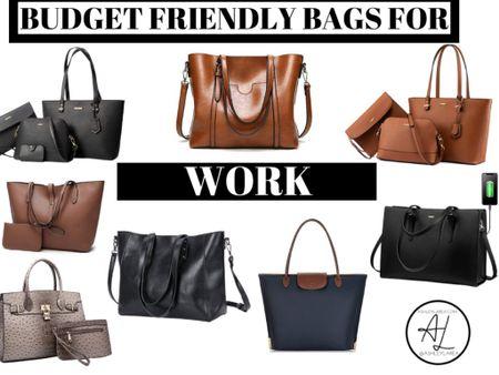 On the blog: Amazon Handbags Under $40 For Every Occasion! Read more at ashleylarea.com 💛 http://liketk.it/2SV9w  #liketkit @liketoknow.it #LTKitbag #LTKunder50 #LTKworkwear work bag computer bag purse tote