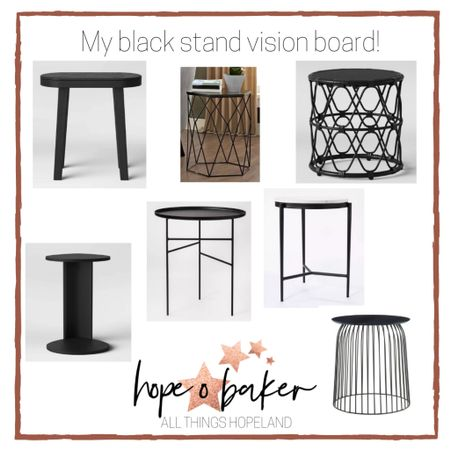 The black stand dream. I have been searching for the perfect black stands for my living room, and these are the ones I narrowed it down to! I purchased 3 of the stand in the lower right hand corner. 🙌🏽🙌🏽   http://liketk.it/348BY #liketkit #LTKhome #LTKsalealert @liketoknow.it @liketoknow.it.home    You can instantly shop my looks by following me on the LIKEtoKNOW.it shopping app