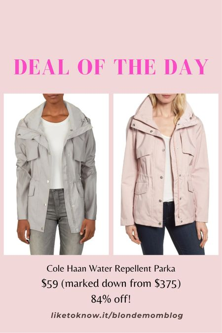 This classic style #waterproof parka at Nordstrom Rack is such an incredible deal! This hooded rain jacket would be such a wonderful staple piece for your outerwear collection. ☔️   #colehaan #nordstrom #nordstromrack #parka #raincoat #raingear #rain #rainyday #outerwear #waterproof  #LTKunder100