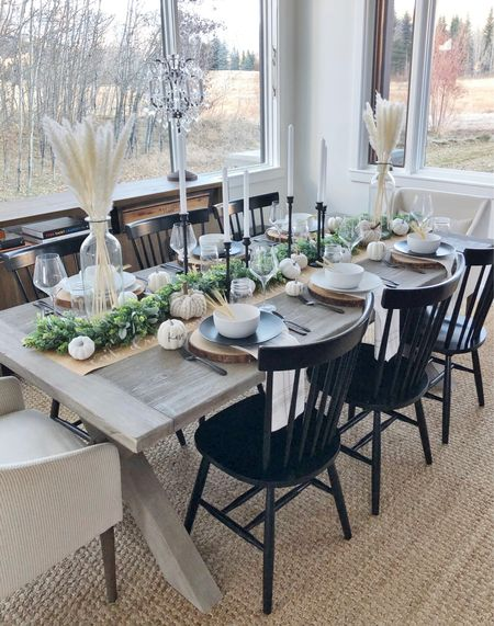H O L I D A Y \ last years #thanksgiving tables is still one of my faves🦃 Linking everything I used here along with my dining furniture!  #thanksgivingdecor #thanksgivingtable #diningroom #diningtable  #LTKSeasonal #LTKHoliday #LTKhome