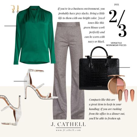 Workwear pieces don't have to just be for work. I'm taking a turtleneck (bodysuit- iykyk!), wide leg trousers and a blouse and styling them beyond the office. Whenever I'm thinking about buying something, I like to think about the versatility of the piece outside of its typical function! I know my favorite look of the three, but which one is yours?     #LTKstyletip #LTKworkwear #LTKbeauty