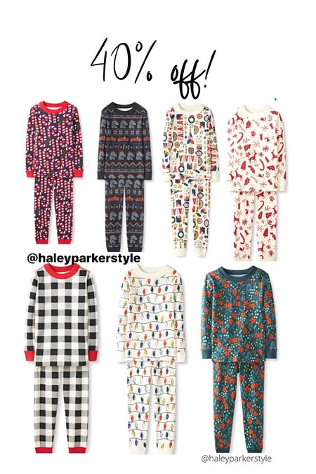 40% off Christmas pajamas Hanna andersson   #LTKHoliday #LTKfamily #LTKkids