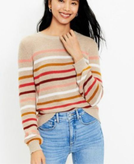 Perfect Fall Sweater🍂🍁 . The colors of fall! True to size! Cute for Thanksgiving  .   #LTKHoliday #LTKsalealert #LTKstyletip