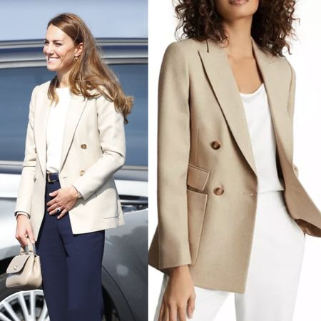 Kate wearing Reiss Larsson twill blazer #work #business #workstyle #coat #jacket   #LTKeurope #LTKstyletip