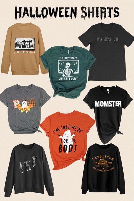 Halloween shirts for the mom, teacher and everyday holiday lover   #LTKHoliday #LTKstyletip #LTKSeasonal