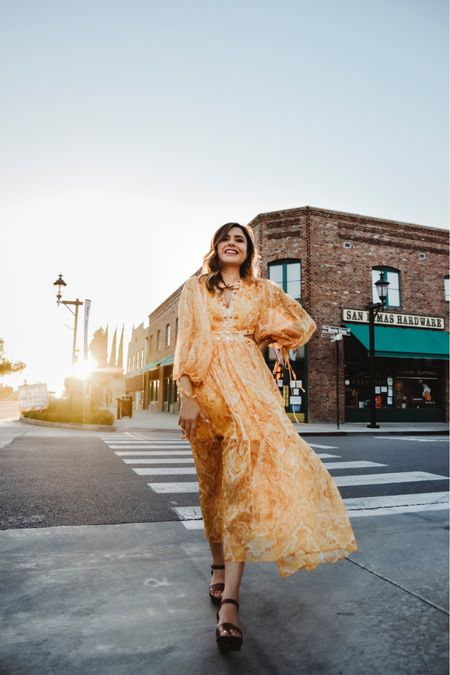 This yellow maxi dress from ChicWish is so pretty and flowy    #LTKstyletip #LTKshoecrush #LTKunder100