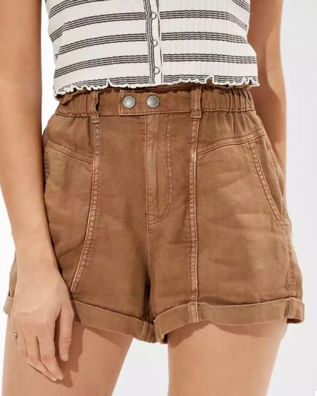 High-rise linen shorts from American Eagle 😍 for spring! Love these so much!! http://liketk.it/3ajtu #liketkit @liketoknow.it #LTKunder50 #LTKsalealert #LTKSeasonal Shop your screenshot of this pic with the LIKEtoKNOW.it shopping app 😘
