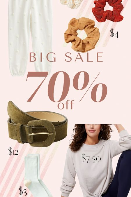 Loft 70% off sale styles with SURPRISE. great for vacation and summer style plus slippers and accessories.   #LTKsalealert #LTKunder50 #LTKhome
