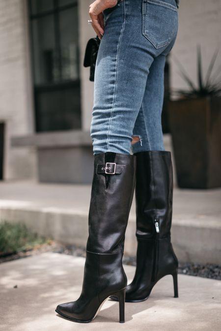 Killer boots and slimming jeans both part of the #nsale and fully stocked!!   #LTKunder100 #LTKsalealert #LTKshoecrush