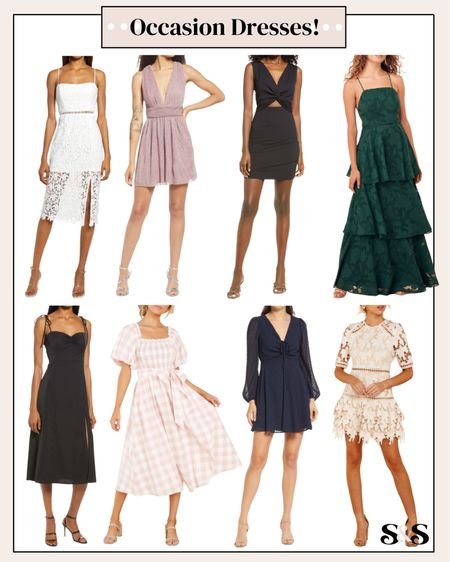 Some cute occasion dresses! Perfect for a cocktail party, homecoming, prom, or any other more formal event! #homecomingdresses #occasiondresses #nordstrom #weddingguest #weddingguestdresses   #LTKstyletip #LTKSeasonal #LTKunder100