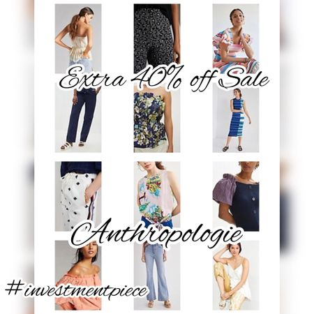 Get an extra 40% off sale @anthropologie #investmentpiece   #LTKstyletip #LTKunder100 #LTKsalealert