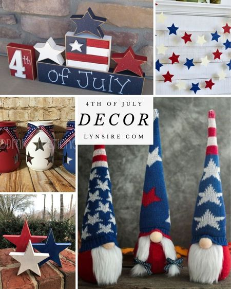 4th of July decor for your home. Some are low in stock so don't miss out!  #LTKhome #LTKunder50 #LTKSeasonal