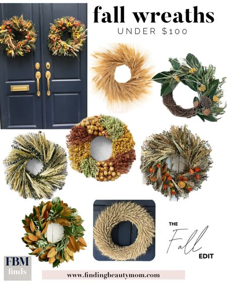 Fall wreaths, fall home decor, wheat decor, Etsy finds, magnolia, harvest wreath, thanksgiving decor, door decor, fall entry   #LTKHoliday #LTKhome